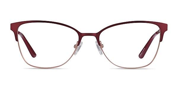 Marlena Burgundy  Rose Gold Metal Eyeglass Frames