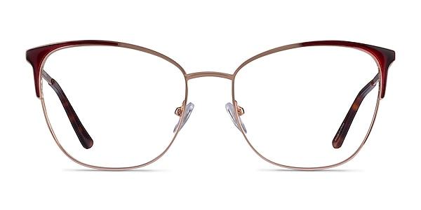 Kelsey Red Rose Gold Métal Montures de lunettes de vue
