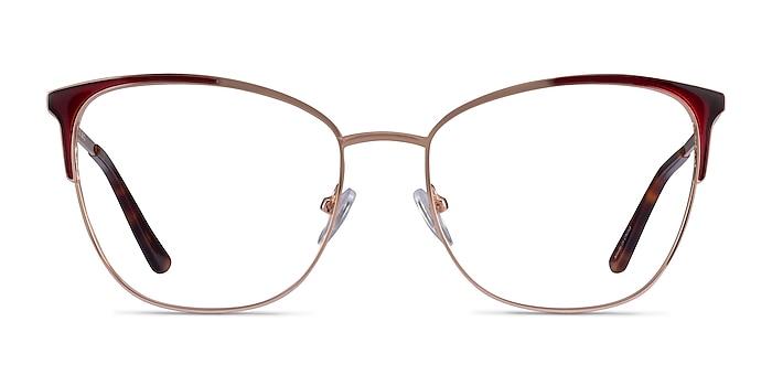 Kelsey Red Rose Gold Métal Montures de lunettes de vue d'EyeBuyDirect