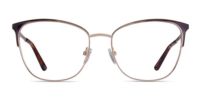 Kelsey Navy Rose Gold Metal Eyeglass Frames from EyeBuyDirect