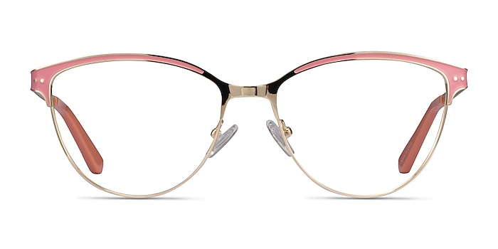 Rosa Gold Pink Metal Eyeglass Frames from EyeBuyDirect
