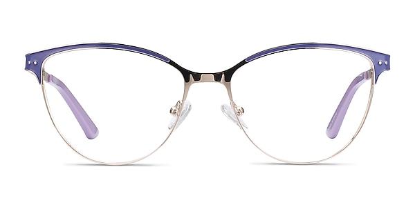 Rosa Purple & Gold Metal Eyeglass Frames