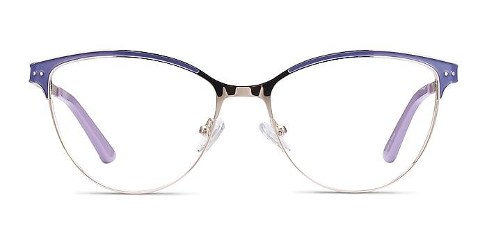 Rosa Purple & Gold Metal Eyeglass Frames from EyeBuyDirect