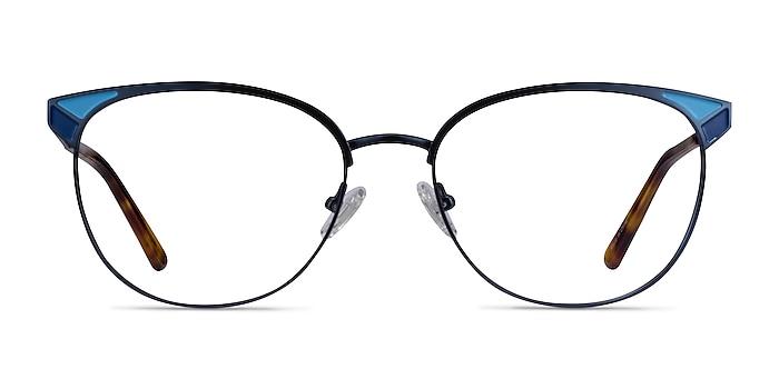Niki Blue Metal Eyeglass Frames from EyeBuyDirect
