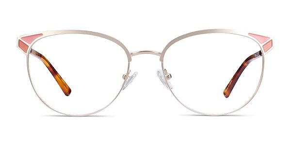 Niki Gold Metal Eyeglass Frames
