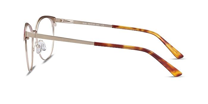 Niki Gold Metal Eyeglass Frames from EyeBuyDirect