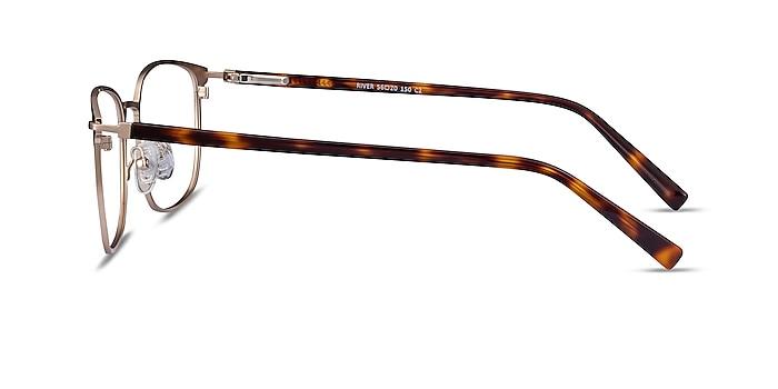 River Bronze & Gold Acetate-metal Montures de lunettes de vue d'EyeBuyDirect