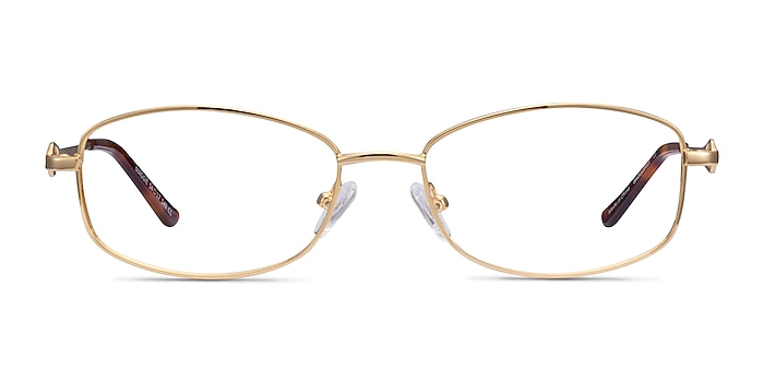 Maggie Gold Metal Eyeglass Frames from EyeBuyDirect