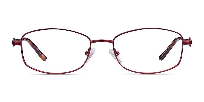 Maggie Burgundy Métal Montures de lunettes de vue d'EyeBuyDirect