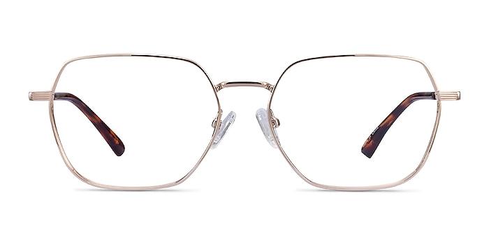 Marlow Gold Metal Eyeglass Frames from EyeBuyDirect