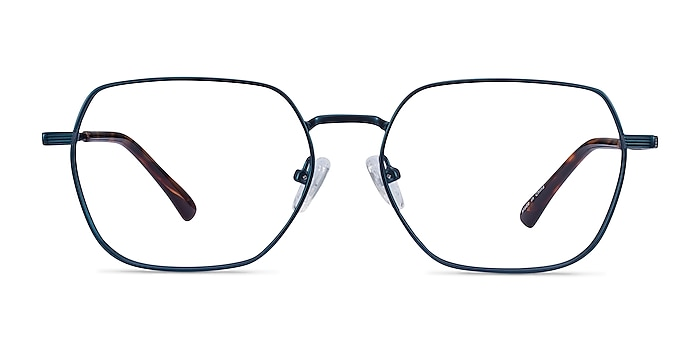 Marlow Bleu marine  Métal Montures de lunettes de vue d'EyeBuyDirect
