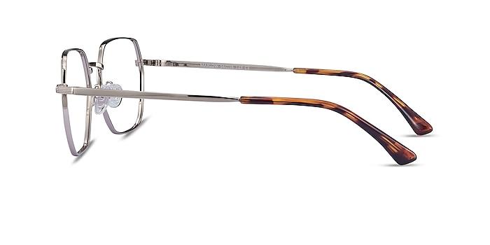 Marlow Silver Metal Eyeglass Frames from EyeBuyDirect