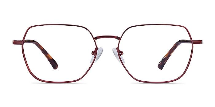 Marlow Red Metal Eyeglass Frames from EyeBuyDirect