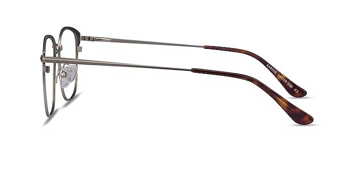 Karter Silver Metal Eyeglass Frames from EyeBuyDirect