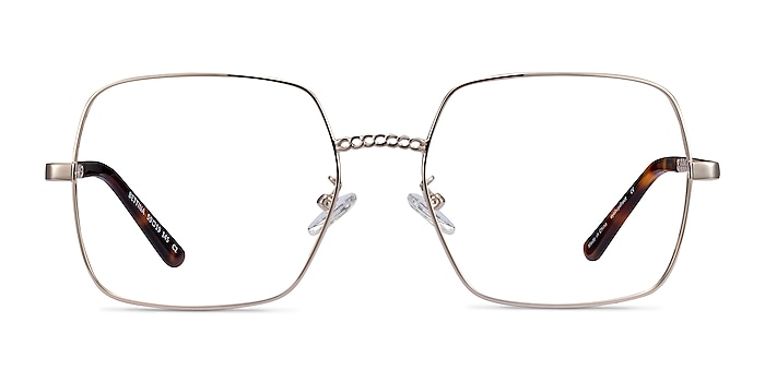 Bettina Silver Metal Eyeglass Frames from EyeBuyDirect
