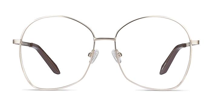 Bridget Gold Metal Eyeglass Frames from EyeBuyDirect