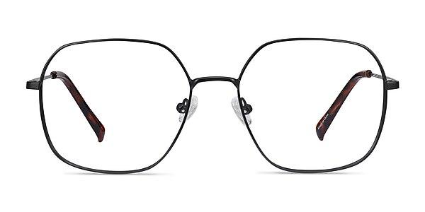 Reality Black Metal Eyeglass Frames