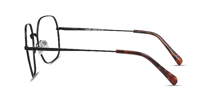 Reality Noir Métal Montures de lunettes de vue d'EyeBuyDirect