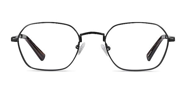Space Matte Black Metal Eyeglass Frames