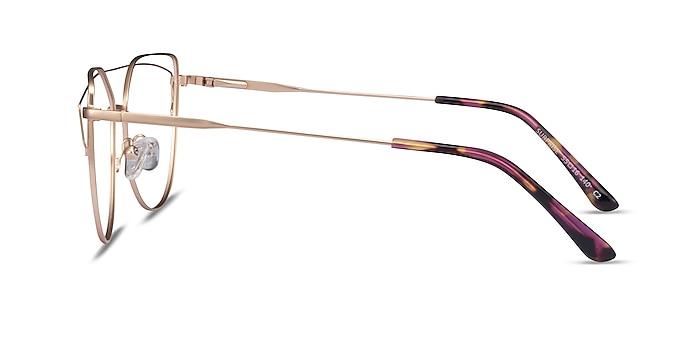 Surprise Matte Gold Metal Eyeglass Frames from EyeBuyDirect