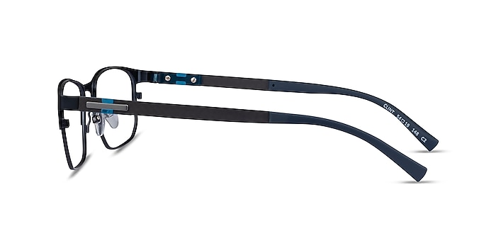 Clint Petrol Blue Carbon-fiber Eyeglass Frames from EyeBuyDirect