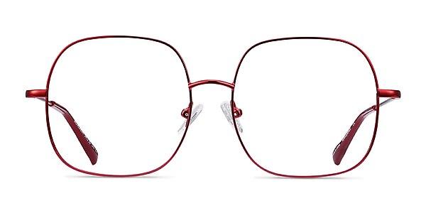 Movement Red Metal Eyeglass Frames