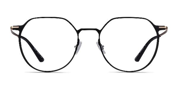 Alum Black & Gold Aluminium-alloy Eyeglass Frames