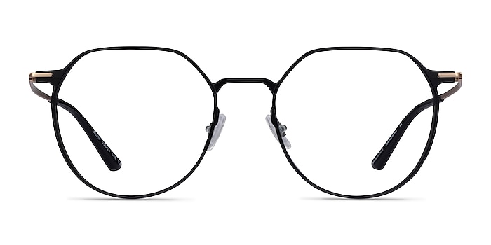 Alum Black & Gold Aluminium-alloy Eyeglass Frames from EyeBuyDirect