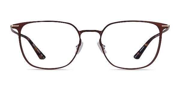 Density Brown & Gold Aluminium-alloy Eyeglass Frames
