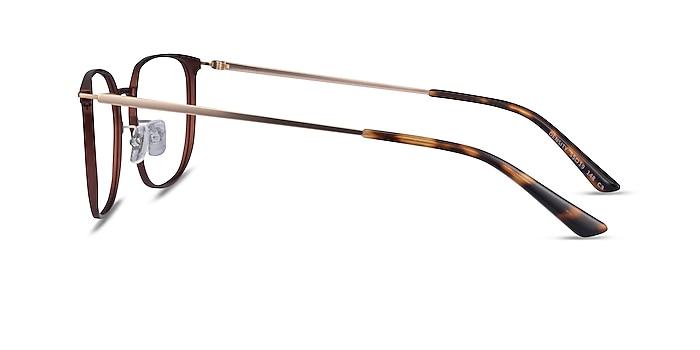Density Brown & Gold Aluminium-alloy Montures de lunettes de vue d'EyeBuyDirect
