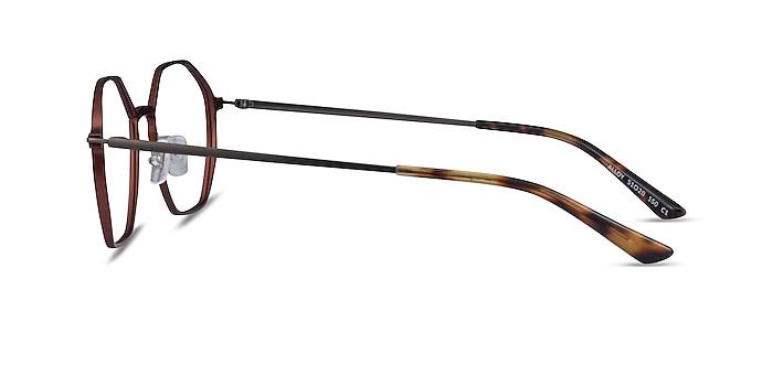 Alloy Brown & Gunmetal Aluminium-alloy Eyeglass Frames from EyeBuyDirect