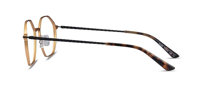 Alloy Gold & Black Aluminium-alloy Eyeglass Frames from EyeBuyDirect