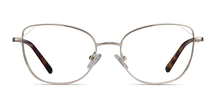 Moment Light Gold Metal Eyeglass Frames from EyeBuyDirect