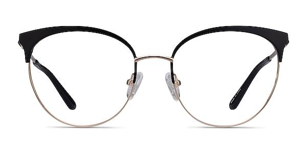 Gem Black Gold Métal Montures de lunettes de vue