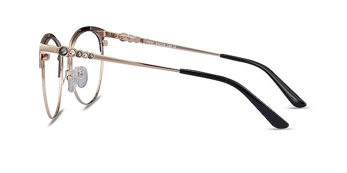 Gem Black Gold Métal Montures de lunettes de vue d'EyeBuyDirect