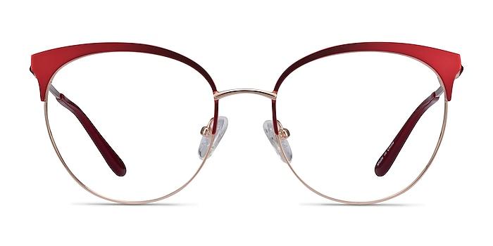 Gem Red Gold Metal Eyeglass Frames from EyeBuyDirect