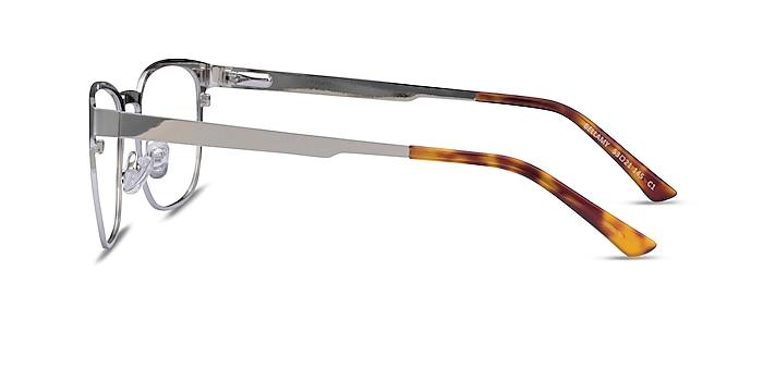 Bellamy Silver Metal Eyeglass Frames from EyeBuyDirect