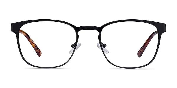 Bellamy Shiny Black Metal Eyeglass Frames