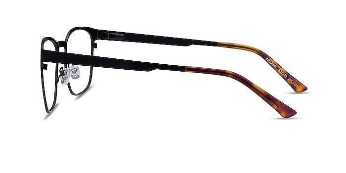 Bellamy Shiny Black Métal Montures de lunettes de vue d'EyeBuyDirect