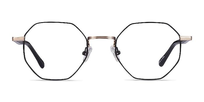 Music Black Gold Metal Eyeglass Frames from EyeBuyDirect