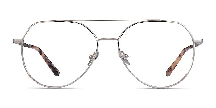 Benny Silver Metal Eyeglass Frames from EyeBuyDirect