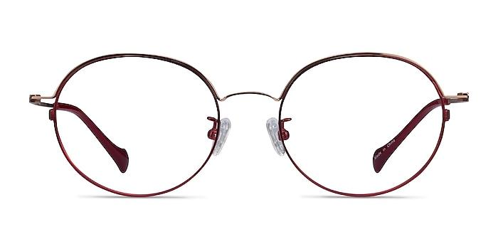 Patel Burgundy  Rose Gold Metal Eyeglass Frames from EyeBuyDirect