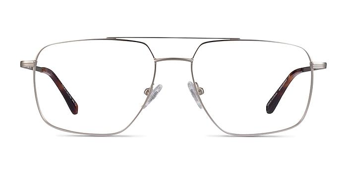 Focal Argenté Métal Montures de lunettes de vue d'EyeBuyDirect