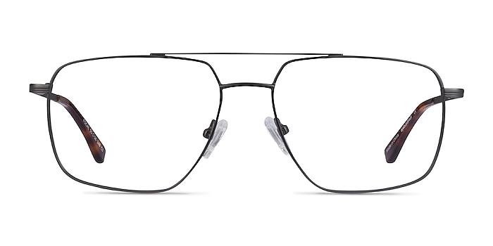 Focal Gunmetal Métal Montures de lunettes de vue d'EyeBuyDirect