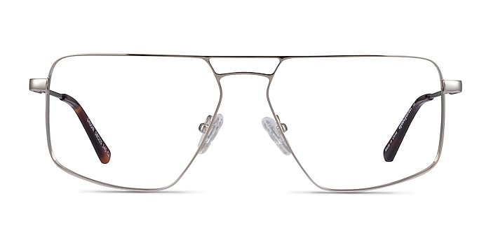 Orson Argenté Métal Montures de lunettes de vue d'EyeBuyDirect