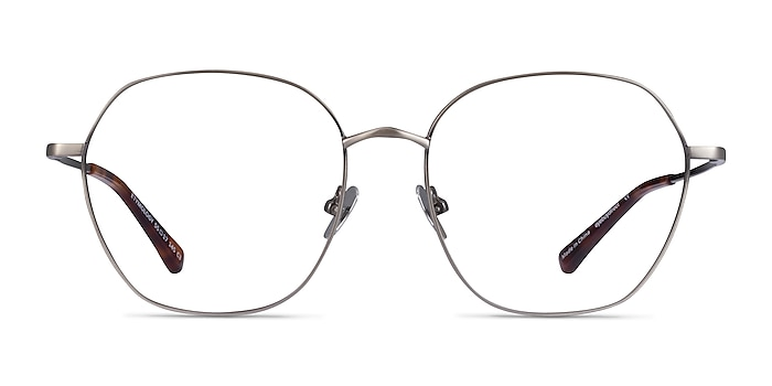 Etymology Brushed Gunmetal Metal Eyeglass Frames from EyeBuyDirect