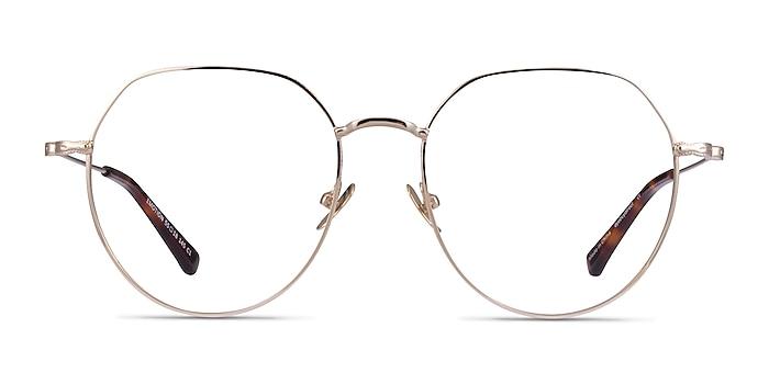 Emotion Light Gold Métal Montures de lunettes de vue d'EyeBuyDirect