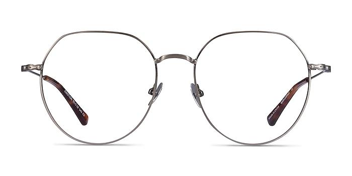 Emotion Brushed Gunmetal Metal Eyeglass Frames from EyeBuyDirect