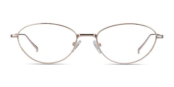 Feather Gold Metal Eyeglass Frames