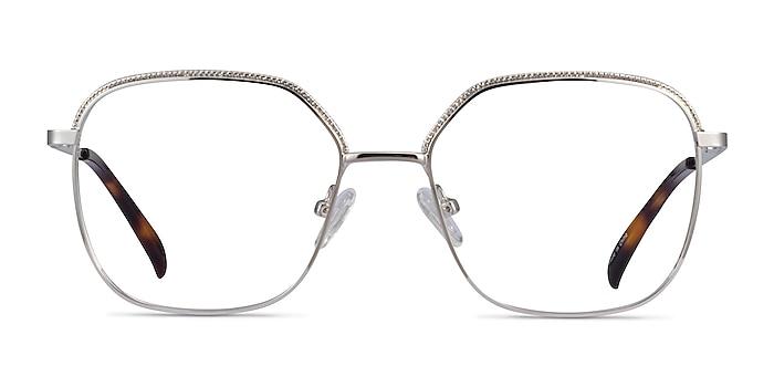 Chai Silver Metal Eyeglass Frames from EyeBuyDirect